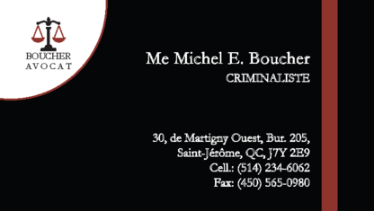 Michel E. Boucher, Avocat - Avocats criminel