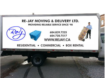 Re-Jay Moving and Delivery - Moving Services & Storage Facilities - 604-720-7517