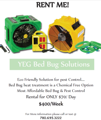 YEG Bed Bug Solutions Ltd - Pest Control Services - 780-695-3222