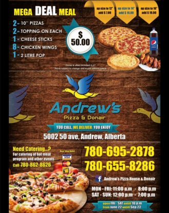 Andrew's Pizza and Donair - Restaurants italiens - 780-695-2878