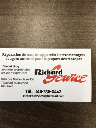 Richard Service - Used Appliance Stores - 418-338-0442