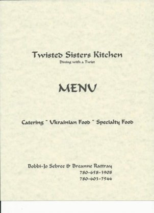 Twisted Sisters Kitchen - Caterers - 780-603-7544
