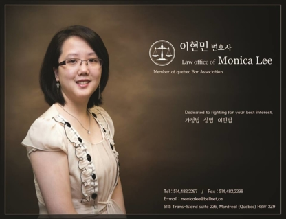Monica Lee - Avocats - 514-482-2297
