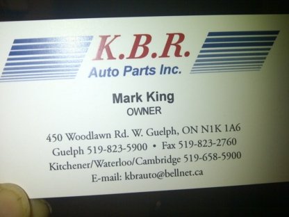 K B R Auto Parts Inc - New Auto Parts & Supplies - 519-823-5900