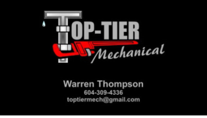 Top-Tier Mechanical - Plombiers et entrepreneurs en plomberie - 604-309-4336