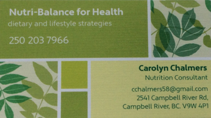 Carolyn Chalmers Nutrition Consultant - Nutrition Consultants