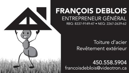 François Deblois Enr - Couvreurs - 450-558-5904