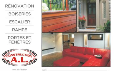 Escaliers Nouvel Art - Constructeurs d'escaliers - 450-516-3669