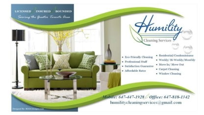 Humility Cleaning Services Inc - Commercial, Industrial & Residential Cleaning - 647-447-1928