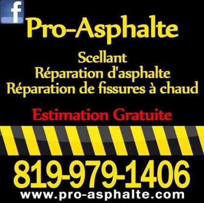 Pro Asphalte - Entrepreneurs en pavage