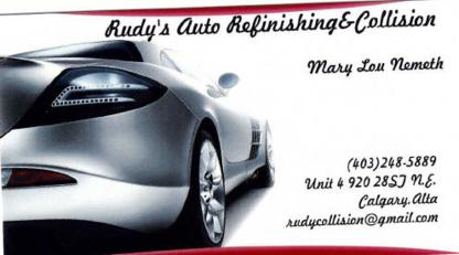 Rudy's Auto Refinishing & Collision - Réparation de carrosserie et peinture automobile - 403-248-5889