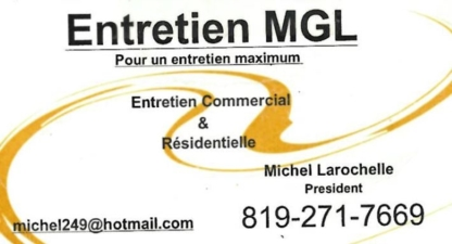 Entretien MGL - Home Cleaning - 819-271-7669