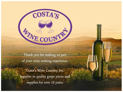 Costa Wine Co - Wine Making & Beer Brewing Equipment - 905-525-7088