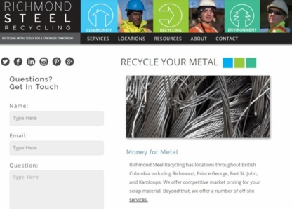 Richmond Steel Recycling Ltd - Scrap Metals - 250-554-3491