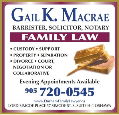 Macrae Gail - Notaries Public - 905-720-0545