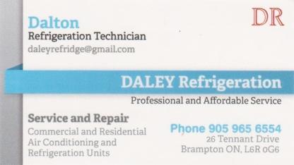 Daley Refrigeration - Refrigeration Contractors - 905-965-6554