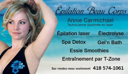 Epilation Beau Corps - Laser Hair Removal - 418-574-1061