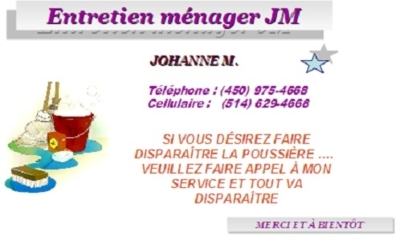 Entretien Ménager JM - Commercial, Industrial & Residential Cleaning - 514-629-4668