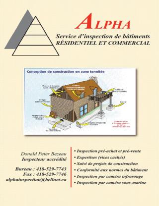 Alpha Inspection - Building Consultants - 418-956-8729
