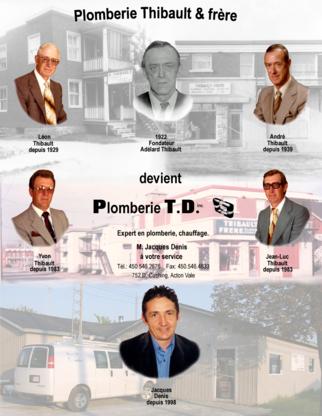 Plomberie T D - Plombiers et entrepreneurs en plomberie - 450-546-2676