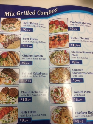 Afghan Kebab & Shawarma - Middle Eastern Restaurants - 905-492-6300