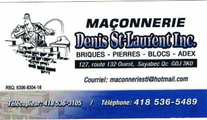 Maçonnerie Denis St-Laurent Inc - Entrepreneurs en construction