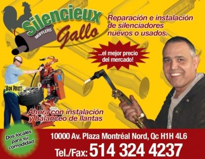 Silencieux Gallo Inc - Silencieux et tuyaux d'échappement - 514-324-4237