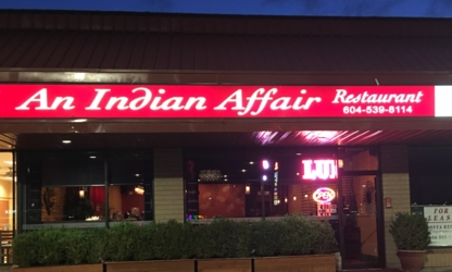 An Indian Affair Restaurant - Indian Restaurants - 604-539-8114