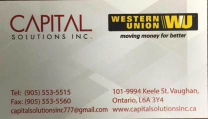 Capital Solution Inc - Investment Advisory Services - 905-553-5515