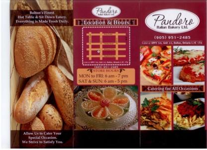 Pandoro Italian Bakery - Bakeries - 905-951-2485