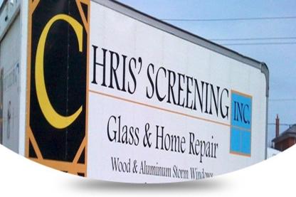 View Chris Screening Glass And Home Repairs's Etobicoke profile