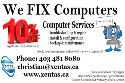 Xentas Computer Services & Solutions - Réparation d'ordinateurs et entretien informatique