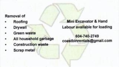 View Coast Bin Rentals's New Westminster profile