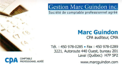 Gestion Marc Guindon Inc - Chartered Professional Accountants (CPA)