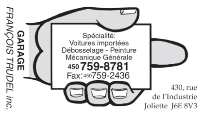 Garage François Trudel Inc - Auto Body Repair & Painting Shops