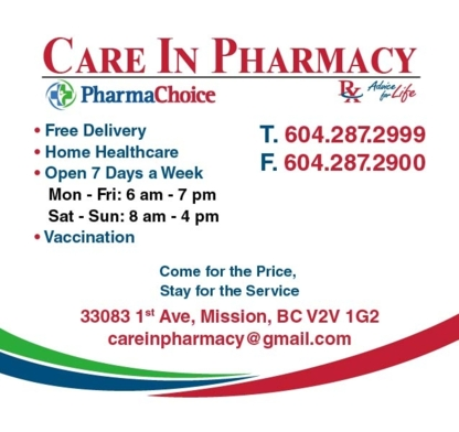 View Care In Pharmacy's Langley profile