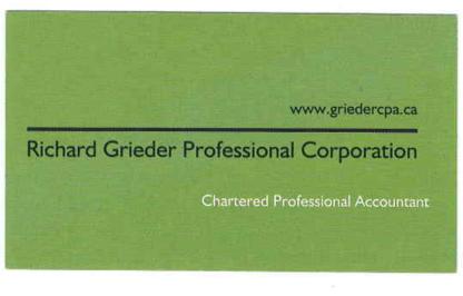Richard Greider Professional Corporation - Chartered Professional Accountants (CPA) - 705-324-2828