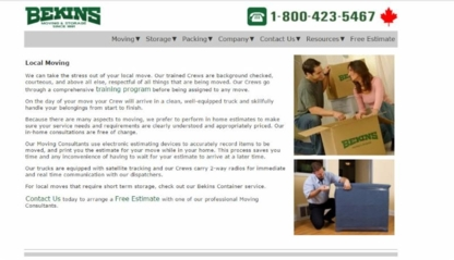 View Bekins World Wide Moving's Edmonton profile