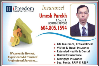 Umesh Parkekh Insurance - Insurance Agents & Brokers - 604-543-0565