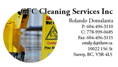 GFC Cleaning Services Inc - Commercial, Industrial & Residential Cleaning - 604-496-3110