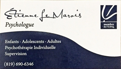 Étienne Le Marois Psychologue - Psychologues - 819-690-6346