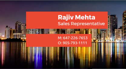 Rajiv Mehta - Immeubles divers - 647-226-7653