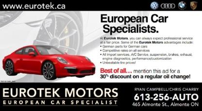 Eurotek Motors - 613-256-2886
