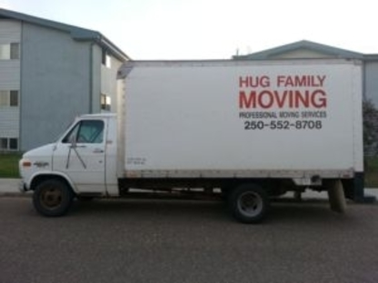 Hug Family Moving - Déménagement et entreposage - 250-552-8708