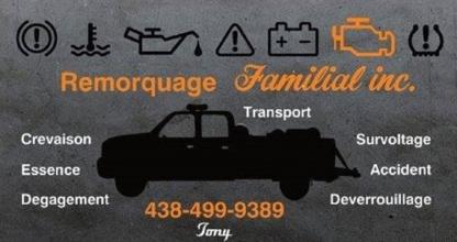 Remorquage Familial Inc - Vehicle Towing - 438-499-9389