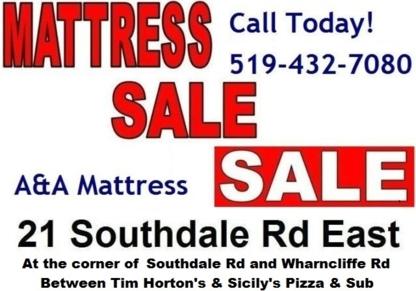A & A Mattress & Home Furnishings - Mattresses & Box Springs - 519-432-7080