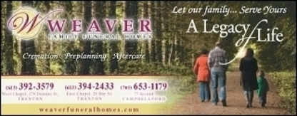 Weaver Family Funeral Homes - Funeral Homes - 613-394-2433