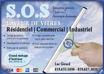 SOS Laveur de vitres - Window Cleaning Service - 819-635-5696
