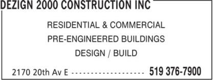 Dezign 2000 Construction Inc - Building Contractors