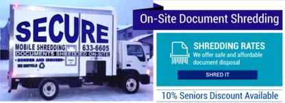 Secure Mobile Shredding - Paper Shredding Service - 867-633-6605